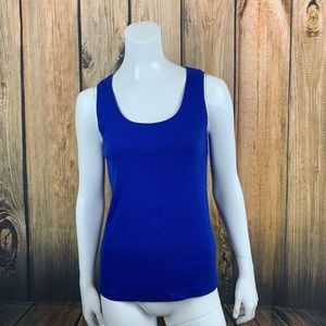Chicos Blue Ribbed Tank Size 1